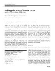 Antiplasmodial activity of botanical extracts.pdf