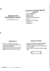 Magnetism And Electromagnetic Induction Notes