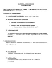 101Consciousness_LectureOutline_Spr08