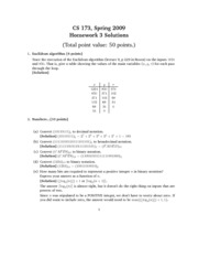 Homework 3 Problem Set Solution