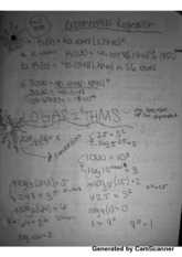 MATH 95 Exponential Regression & Logarithms Notes
