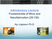 Lecture 1- Introductory Lecture