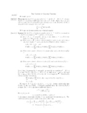 Change of Variable Theorem Notes