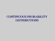 Continuous Distributions F10