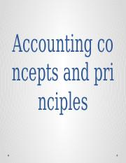 L12 Accounting concepts and principles