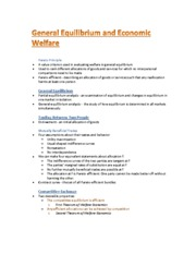General Equilibrium and Economic Welfare