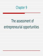 Week 6 EP entrepreneurial opportunities 2016 (2).ppt