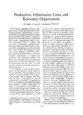 Alchian and Demsetz 1972 Production, Information Costs, and Economic Organization