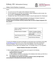 Subject Article Database Assignment