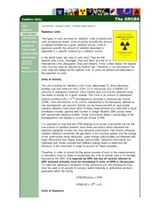 RADD 2501 The ORCBS - Radiation Safety - Programs & Guidelines - Radiation Safety Manual