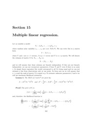 Math 18.443 Multiple Linear Regression