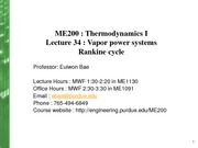 Lecture34_Vapor power systems Rankine cycle-handout