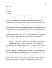 autonomy and ethical principles essay autonomy and ethical  5 pages done cvw 101 ethical dilemmas essay