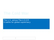 The Cold War Updated