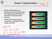 Stress Tranformations Notes