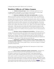 Is playing video games good or bad for you.docx