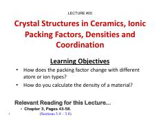 05_MTE 271_Crystal Structures in Ceramics_Packing - Ionic Packing Factors - Densities.pdf