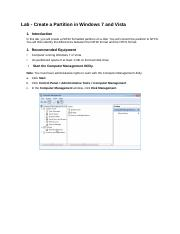 5.2.4.7  Lab - Create a Partition in Windows 7 and Vista (FINISHED).docx