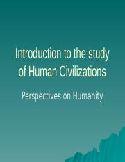 Introduction to the study of Human Civilizations2