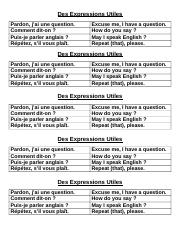 Des Expressions Utiles