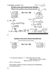Volumes of Prisms & Cylinders Notes