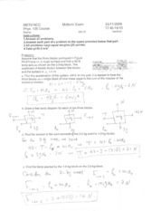 PHY105 - 2009-2010(1) Midterm Solutions