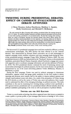 Tweeting during presidential debates - effect on candidate evaulations and debate attitudes