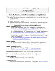 Module 13 - O&R - US Foreign Economic Policy