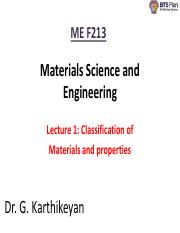 Lecture 1 2 Basics of material Science