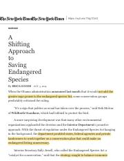 A Shifting Approach to Saving Endangered Species - The New York Times.pdf
