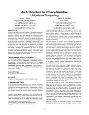 Hong-PrivacySensitiveUbiquitousComputing