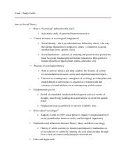 SOC 310 Exam 1 Study Guide.docx