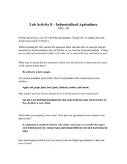 Lab Activity 8 worksheet