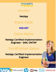 Up-to-Date NCIE NetApp NS0-507 Exam Questions & Practice Tests