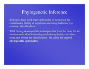 Lecture Notes Phylogenetic Inference