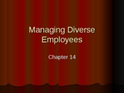 Managing Diverse Employees