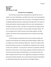 Long Black Song ESSAY