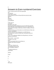 linux even number answers chap 21 and chap 23