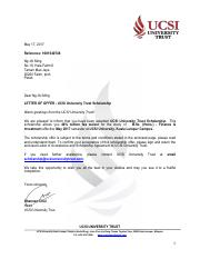 UCSIUF_Trust Scolarship_Malaysian_eLetter with TC_Ng Jhi Ming