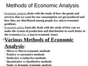 Mehods of Eco. Analysis
