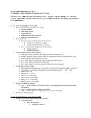 ACCY 310 Final Exam Review Sheet