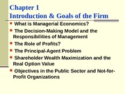 Chapter-1, Managerial Economics