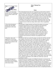 W HIST Cornell Notes- Technology & Economy