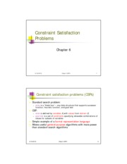 chapter6 Constraint Satisfaction Problems