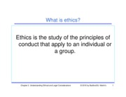Chapter 2 - Understanding Ethical & Legal Considerations