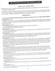 US Constitution Worksheet