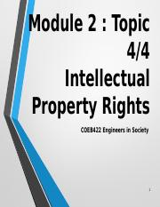 COEB422 Intellectual Property Rights.pptx