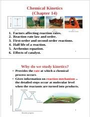 BCH1100-Chemical Kinetics-wk10