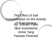Effect of Salt Concentration of Beta-lactamase Activity
