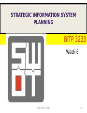 LECTURE 6 SWOT